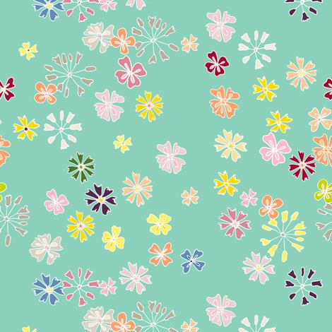 garden flowers fabric by karinka on Spoonflower - custom fabric
