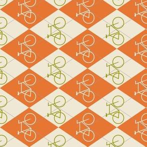 Argyle Bikes in Orange and Green