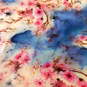 Cherry Blossom Blue Spot
