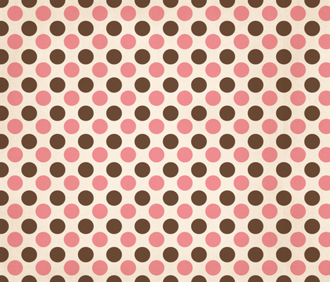 Pink and Chocolate fabric by peacefuldreams on Spoonflower - custom fabric
