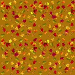Small Autumn Leaves  in Warm Caramel © seasparkles 2013
