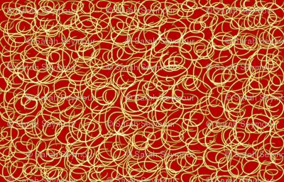 Red & Gold Swirl