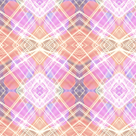 coral and misty pastel plaid  fabric by dk_designs on Spoonflower - custom fabric