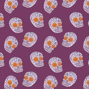 Calavera_Purple