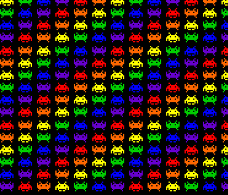 Retro Space Invaders - 1 fabric by craft_geek_or_die on Spoonflower - custom fabric