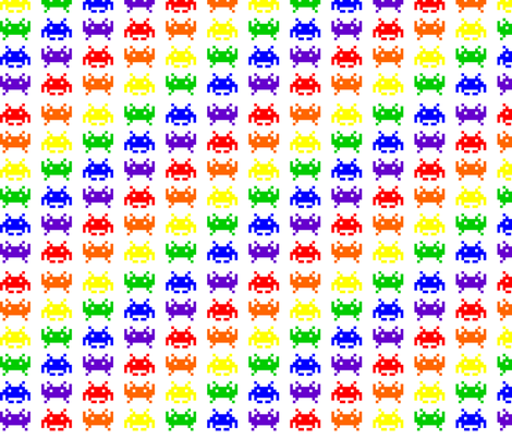 Retro space invaders 2 fabric craft geek or die for Vintage space fabric