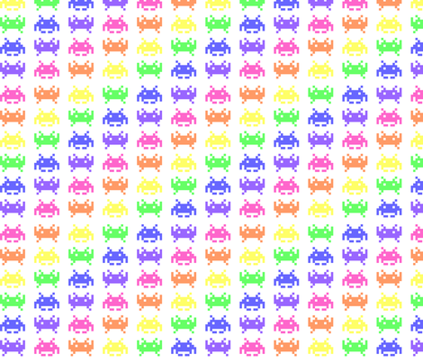 Retro Space Invaders - 4 fabric by craft_geek_or_die on Spoonflower - custom fabric