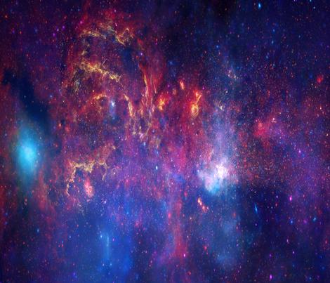 Milky Way Galaxy  fabric by craft_geek_or_die on Spoonflower - custom fabric