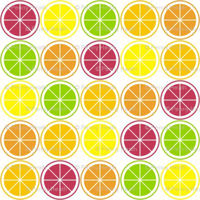 Citrus Segment Polka Dot