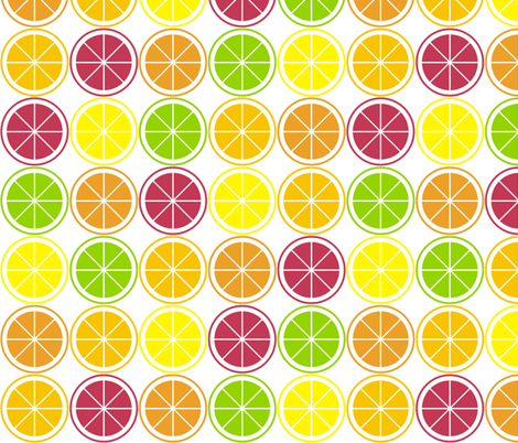 Citrus Segment Polka Dot fabric by smuk on Spoonflower - custom fabric