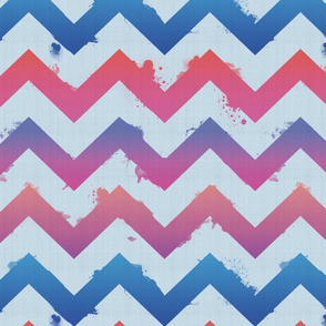 Ombre Watercolor Chevron- multi