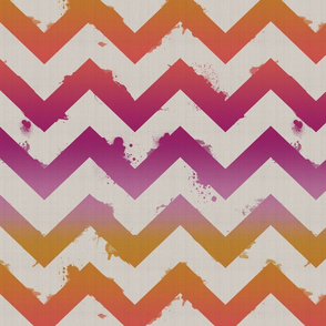Ombre Watercolor Chevron-sunset