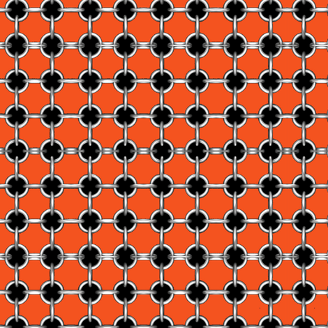 """5/8"""" faux grommets on orange fabric by whimzwhirled on Spoonflower - custom fabric"""