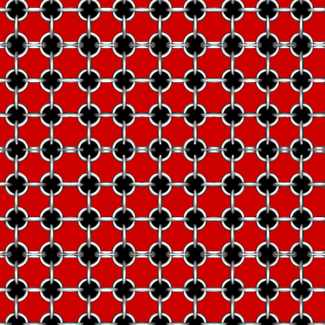 "5/8"" faux grommets on red fabric by whimzwhirled on Spoonflower - custom fabric"