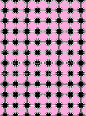 """5/8"""" faux grommets on pink"""
