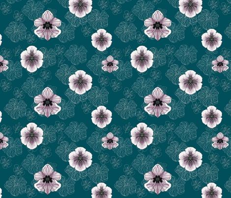 Purple Pleasure-on Teal fabric by stitchfetish_studio on Spoonflower - custom fabric