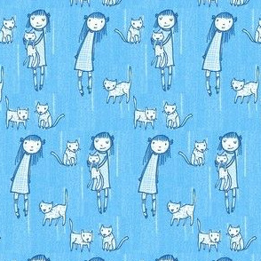 Cat Collectors (periwinkle)
