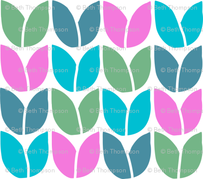 Tulip Knit (Blue Green Pink Teal)