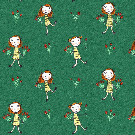 Rosepickers fabric by anda on Spoonflower - custom fabric