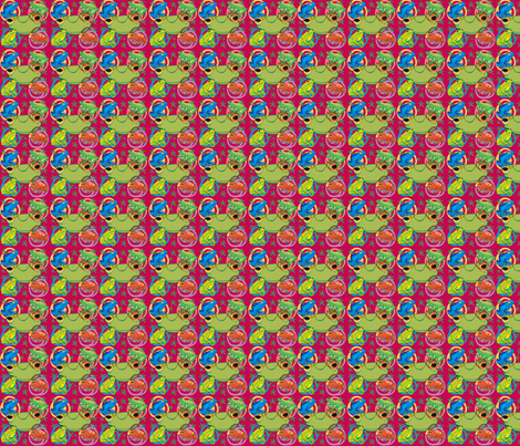Froggy_Magenta fabric by scifiwritir on Spoonflower - custom fabric