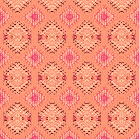 pastel,peach and pink triangles fabric by dk_designs on Spoonflower - custom fabric