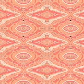 misty pastel peach and triangles