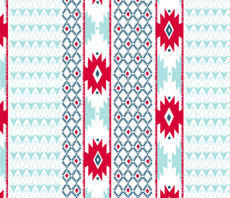 Navajo Stripe-white fabric by fable_design on Spoonflower - custom fabric