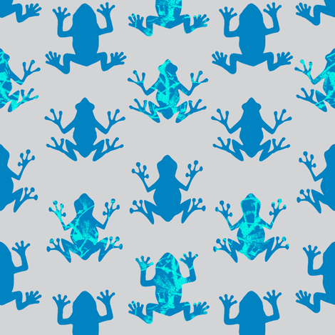 Lively Leapers - Electric Blue fabric by sheila_marie_delgado on Spoonflower - custom fabric