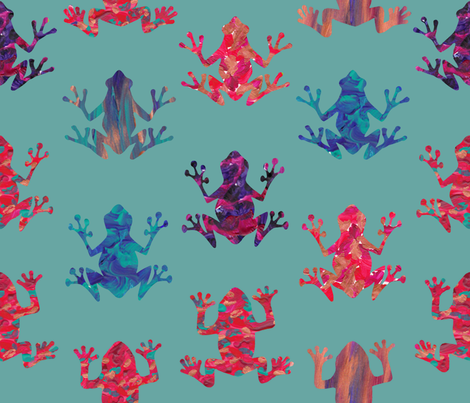 Lost Leapers Turquoise fabric by sheila's_corner on Spoonflower - custom fabric