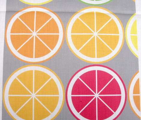 Citrus Segment Polka Dot Grey