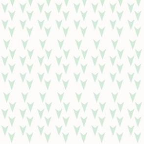 Mint Arrowhead on White - Mint Arrows