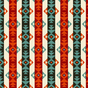 Navajo striped pattern