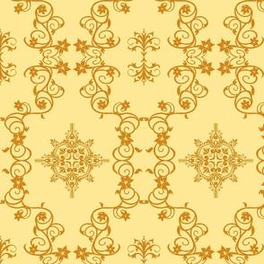 Floral5-orange/rust
