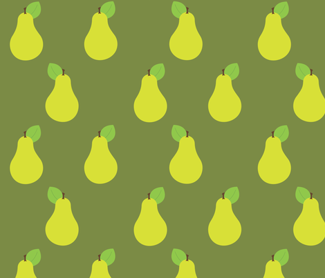 Peary Pretty {Green} fabric by printablegirl on Spoonflower - custom fabric