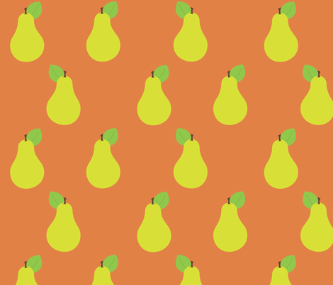 Peary Pretty {Orange} fabric by printablegirl on Spoonflower - custom fabric