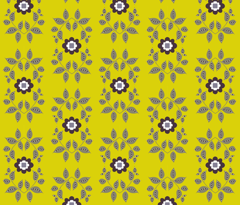 midsummer motif / yellow fabric by paragonstudios on Spoonflower - custom fabric