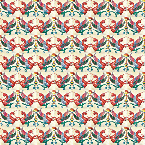 Mythical Beasties fabric by amyvail on Spoonflower - custom fabric