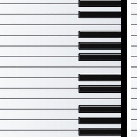 Piano Keys fabric by jadegordon on Spoonflower - custom fabric