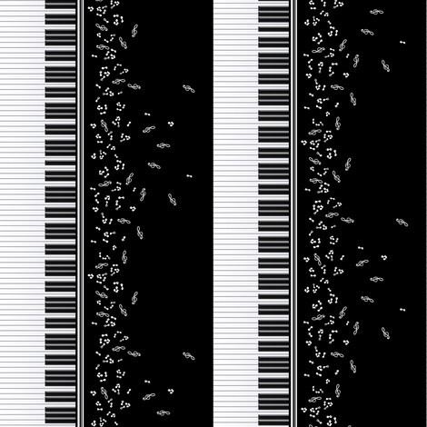 Piano Music Doll Scale fabric by jadegordon on Spoonflower - custom fabric