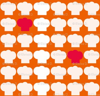Chef Hats Orange