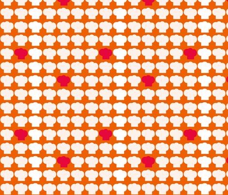 Chef Hats Orange fabric by natitys on Spoonflower - custom fabric