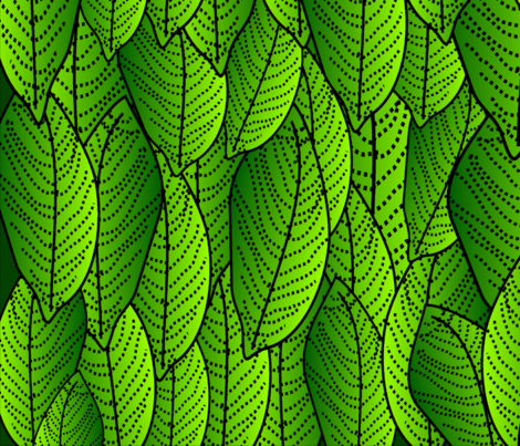 Green Leaves Botanical fabric by hot4tees_bg@yahoo_com on Spoonflower - custom fabric