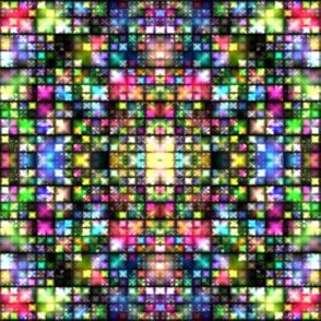 Colorful Tiny Lights Mosaic © Gingezel™ 2014