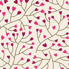 Floral seamless pattern in vector.