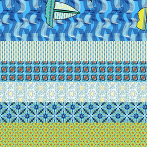 Art Quilt Half Panel