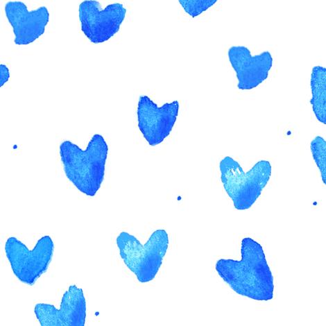 cestlaviv_new blue hearts fabric by cest_la_viv on Spoonflower - custom fabric