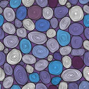 Seamless circles hand-drawn pattern, circles background.