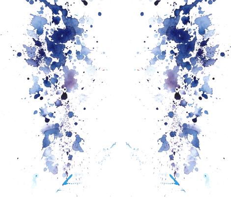 cestlaviv_royal blue fur fabric by cest_la_viv on Spoonflower - custom fabric
