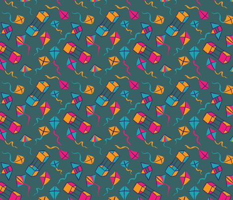 Fly a Kite - 90s Kid fabric by hugandkiss on Spoonflower - custom fabric