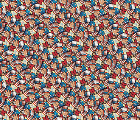 Fourth of july parade fabric by hannafate on Spoonflower - custom fabric